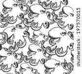 sketch octopus  vector vintage... | Shutterstock .eps vector #197570015