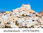 Ano Syros city on the Syros island. Syros or Siros is a Greek island in the Cyclades, in the Aegean Sea.
