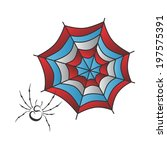 spiderweb art illustration | Shutterstock .eps vector #197575391