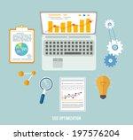 web design objects  seo... | Shutterstock . vector #197576204