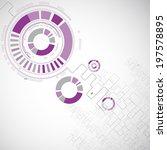 abstract technology circles... | Shutterstock .eps vector #197578895