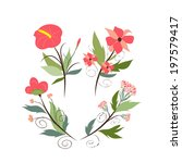 banners floral frames and... | Shutterstock . vector #197579417