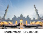 sheikh zayed grand mosque at... | Shutterstock . vector #197580281