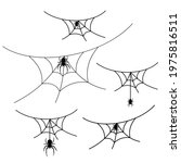 scary spider web set isolated... | Shutterstock .eps vector #1975816511