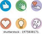 buttons of reactions for...   Shutterstock .eps vector #1975838171