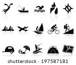 summer activities icons set | Shutterstock .eps vector #197587181