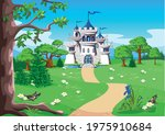 fairy tale landscape with a... | Shutterstock .eps vector #1975910684