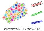 vector covid collage saint... | Shutterstock .eps vector #1975926164