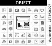 object icon set. line icon...