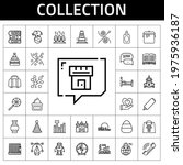 collection icon set. line icon...