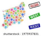vector covid mosaic west...   Shutterstock .eps vector #1975937831