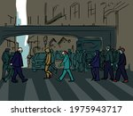 croud street illustration... | Shutterstock .eps vector #1975943717