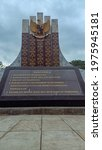 Small photo of Ende, Indonesia - May 19, 2021: The 5 values of Pancasila as the Foundation of the Unitary State of the Republic of Indonesia in the Pancasila Monument are located in Ende.