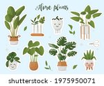 set of stickers pots with home... | Shutterstock .eps vector #1975950071