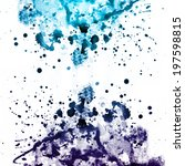 blue and violet watercolor... | Shutterstock . vector #197598815