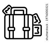 laundry money suitcase icon....   Shutterstock .eps vector #1976000321