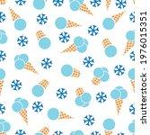 snow ice cream. seamless...   Shutterstock .eps vector #1976015351