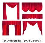 red curtains cartoon vector... | Shutterstock .eps vector #1976054984