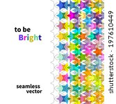 bright star seamless background ... | Shutterstock .eps vector #197610449