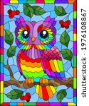 Stained Glass Illustration With ...