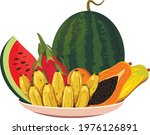 plate with fruits for...   Shutterstock .eps vector #1976126891