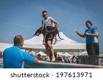 milan  italy   june 7  trainers ... | Shutterstock . vector #197613971