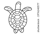 little smiling turtle doodle... | Shutterstock .eps vector #1976140577