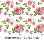 Watercolor Seamless Roses...