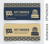gold turquoise luxury voucher...   Shutterstock .eps vector #1976256224