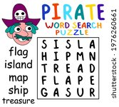 pirate word search puzzle for... | Shutterstock .eps vector #1976260661