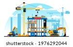 a building under construction... | Shutterstock .eps vector #1976292044