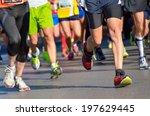 Marathon Running Race  People...