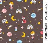little prince seamless pattern. ...   Shutterstock .eps vector #1976313377