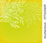 bright leafy background with...   Shutterstock .eps vector #197633609