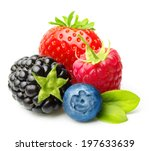 Summer Berry Fruits. Berries....