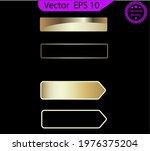 set of empty glass gold buttons ... | Shutterstock .eps vector #1976375204