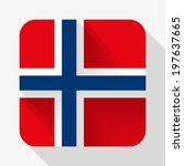 simple flat icon norway flag....
