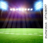 soccer field with the bright... | Shutterstock . vector #197638097