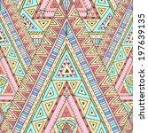 original drawing tribal doddle... | Shutterstock .eps vector #197639135