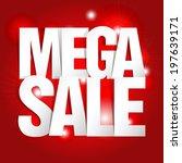 mega sale paper folding design  | Shutterstock .eps vector #197639171