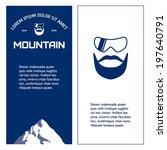 mountain. mountaineer. vector... | Shutterstock .eps vector #197640791