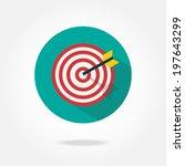 flat target icon. | Shutterstock .eps vector #197643299