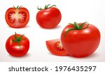 realistic red tomato in 3d... | Shutterstock .eps vector #1976435297