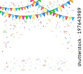 festive background with colored ... | Shutterstock .eps vector #197643989