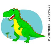 green the dinosaur... | Shutterstock . vector #197644139