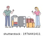 a man and a woman showing a...   Shutterstock .eps vector #1976441411