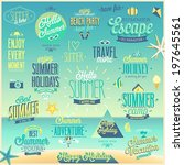 summer and travel set   labels... | Shutterstock .eps vector #197645561