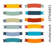 labels  tags  ribbons set in... | Shutterstock . vector #197646821