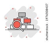 hierarchy diagram icon in comic ...