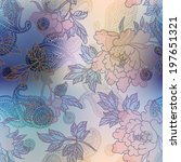 seamless background pattern.... | Shutterstock . vector #197651321